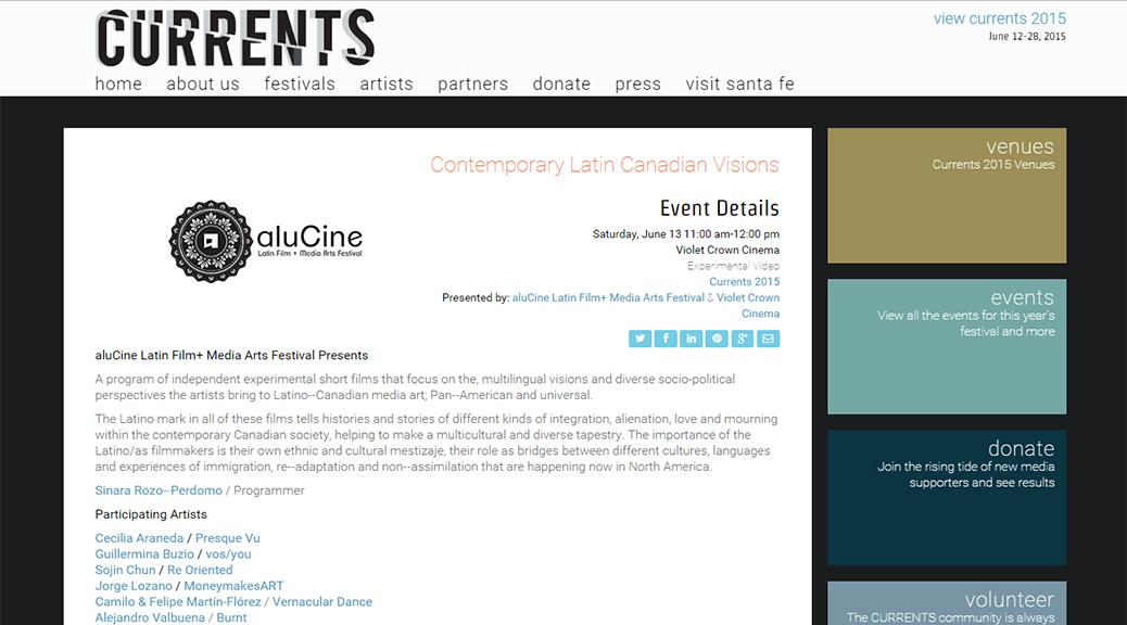 Presque Vu to Screen at  CURRENTS: Santa Fe International New Media Festival